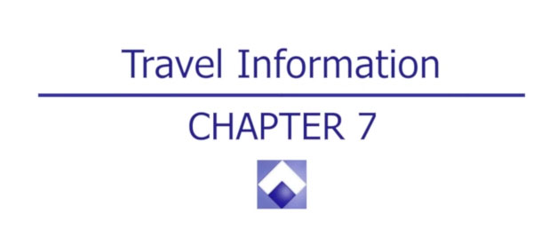 APMLE Travel Information - Chapter 7
